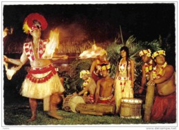 Carte Postale Polynésie Française Tahiti Danse Rituelle Du Feu Trés Beau Plan - Tahiti