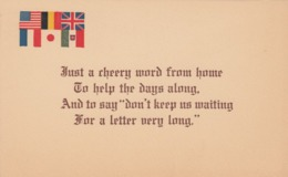 Six Allied Country Flags, Poem, 1900-10s - Portraits
