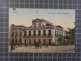 11.682) Angola Africa Portuguesa Luanda Sucursal Do Banco Ultramarino Ed. João Filipe Casa Turca /furado - Angola