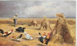 AK 0325  Hühner Im Kornfeld - Künstlerkarte Um 1920 - Vögel