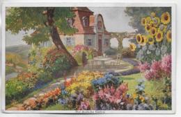 AK 0325  Mein Gartenhaus / Künstlerkarte Um 1910-20 - Blumen