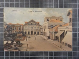 11.683) Angola Africa Portuguesa Luanda Praça Da Republica Ed. Ferreira Ribeiro & Osório /defeito Margem Esquerda - Angola