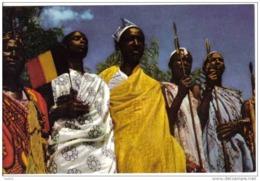 Carte Postale Afrique Congo Usumbura  Les Chefs De L'Urundi Acceuille Le Roi à Sa Descente D'avion Trés Beau Plan - Congo - Kinshasa (ex Zaire)