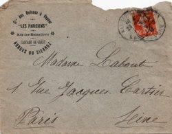 """LAC - Entête  Cie Des Bateaux à Vapeur """"LES PARISIENS"""" à AIX LES BAINS (Savoie) - Cascade De Grésy - Gorges Du SIERROZ - Postmark Collection (Covers)"""