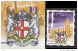 Canada, Ours, Bear, Cerf, Deer, Gibier, Mitre, Crosse, Livre, Book, Université Bishop's University, Armoiries - Ours