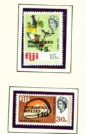 FIJI  -  1972 Hurricane Relief Set Unmounted/Never Hinged Mint - Fidji (1970-...)