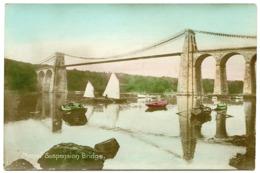 WALES : MENAI SUSPENSION BRIDGE (HAND COLOURED) - Bridges