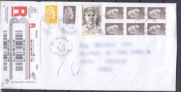 France Modern Cover To Serbia, Look Backside Scan - Cartas