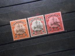 D.R.Mi 12/13/15*MLH  - Deutsche Kolonien ( Kamerun ) 1900  Mi 7,80 € - Colony: Cameroun