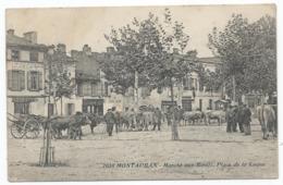 MONTAUBAN ( 82 - Tarn Et Garonne ) - Marché Aux Boeufs - Place De La Laque ( Animée , Personnes , Rue ) - TTB Etat - Montauban