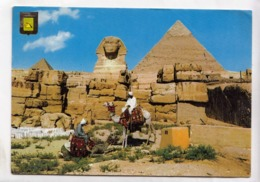 Egypt, GIZA, The Great Sphinx & Pyramids, 1979 Used Postcard [23555] - Gizeh