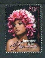 """TIMBRE** De 2017 Gommé De POLYNESIE """"80f - JOURNEE DE LA FEMME"""" - French Polynesia"""