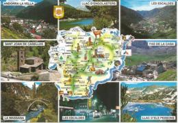 Souvenirs D'Andorre L'été, Carte Du Pays, Carte Postale Neuve, Non Circulée. - Andorre
