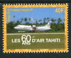 """TIMBRE** De 2017 Gommé De POLYNESIE """"40F - LES 60 ANS D'AIR TAHITI - ATR 72-500"""" - Neufs"""
