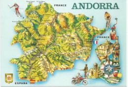 Carte En Relief De L'Andorre, Carte Postale Neuve Non Circulée - Andorre
