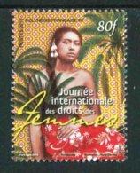 """TIMBRE** De 2019 Gommé De POLYNESIE """"80F - JOURNEE INTERNATIONALE DES DROITS DES FEMMES"""" - Polynésie Française"""