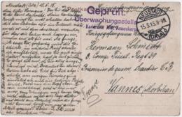 MILITARIA. KARLSRUHE XIV ARMEEKORPS. PRISONNIER De GUERRE. NEUSTAD- STRASBOURG (67) Pour VANNES (56) - Guerra 1914-18