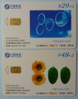 CHINA - Telecom - CNT - IC - G4  - Set Of 2 - G Series - Used - China