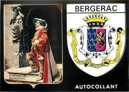 """CPSM FRANCE 24 """"Bergerac"""" /  BLASON ADHESIF - Bergerac"""