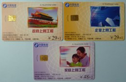 CHINA - Telecom - CNT - IC - G8  - Set Of 3 - G Series - 2004 - Used - China