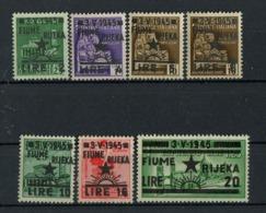 Yugoslavia Occup Istria 1945 ☀ Fiume Rijeka Complete Set ☀ MNH - Occ. Yougoslave: Littoral Slovène