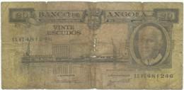 Angola - 20 Escudos - 10.06.1962 - Pick 92 - Série 11 VI - Américo Tomás - PORTUGAL - Angola