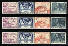 1949 Malaya 6 Sets Universal Postal Union (used) - Malayan Postal Union
