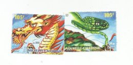 Timbres Du Bloc 23 Dragon (853) - Neukaledonien