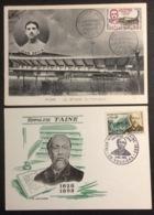 CM444 Jean Bouin Et Hippolyte Taine Premier Jour Paris Et Vouziers 2 Carte Maximum 1265 Et 1475 - Cartes-Maximum