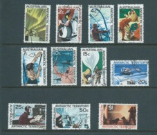 Australian Antarctic Territory 1966 Definitive Scenes Set 11 FU , Many With Base Cds - Used Stamps