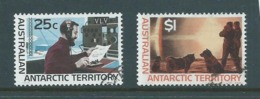 Australian Antarctic Territory 1966 25c Radio & $1 Mock Sun Definitives  FU - Australian Antarctic Territory (AAT)