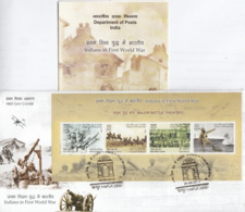 India 2019 Indians In First World War  4v SS  First Day Cover + Plain Information Sheet  # 22948  D Inde  Indien - FDC