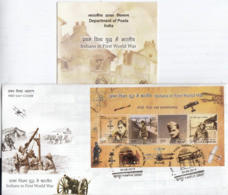 India 2019 Indians In First World War  4v SS  First Day Cover + Plain Information Sheet  # 22949  D Inde  Indien - FDC