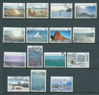 Australian Antarctic Territory 1984 - 1987 Scenes Definitives Set 15 VFU - Used Stamps