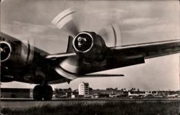 ! Alte Ansichtskarte Frankfurt Am Main, Flughafen, Airport, Aerodrome, Propliner - Aérodromes