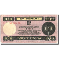 Billet, Pologne, 10 Cents, 1979, 1979, KM:FX37, TTB+ - Pologne