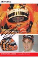 Christijan Albers Formula 1 Grand Prix Motor Racing Hand Signed Photo - Car Racing - F1