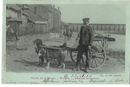 08 NOUZON ATTELAGE ARDENNAIS VOITURE A CHIENS 1902 CPA 2 SCANS - Autres Communes