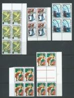 Australian Antarctic Territory 1966 1c - 5c Selection Of Blocks MNH - Unused Stamps