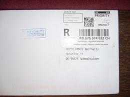 Schweiz 2019 Ganzsache Registered Mail Recommande' Schalterfreistempel-Label - Affranchissements Mécaniques