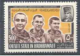 1967 Aden Qu'aiti State HADRAMAOUT  Michel 141 ** Espace, Astronautes - Ver. Arab. Emirate