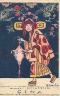 Illustration M. Montedoro: Cina (la Chine) - Alleati Pittoreschi - Carte Elzeviriana (Torino) Non Circulée - Other Illustrators