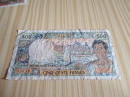 Papeete.Billet 500 Francs. - France