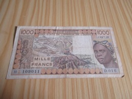 Niger.Billet 1000 Francs 1987. - Niger