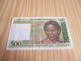 Madagascar.Billet 500 Francs. - Madagaskar