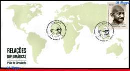 Ref. BR-V2018-072D BRAZIL 2018 FAMOUS PEOPLE, 150 YEARS OF MAHATMA, GANDHI BIRTH, FDC MNH 1V - FDC