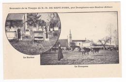 03 Trappe De ND De Sept Fons Par Dompierre Sur Besbre Vers Moulins Ruches Rucher Troupeau De Vaches Moines - Moulins