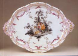 Germany - Postcard Unused - Charlottenburg Palace - Offer Plate With Watteau Scene,Porcelain - Cartoline Porcellana