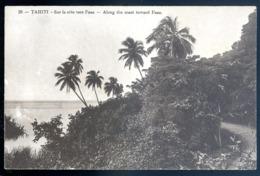 Cpa  Tahiti Sur La Côte Vers Faaa        LZ55 - Tahiti
