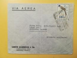 1962 BUSTA INTESTATA URUGUAY STORIA POSTALE BOLLO  BIRDS UCCELLI VIA AEREA ANNULLO AIRMAIL - Uruguay